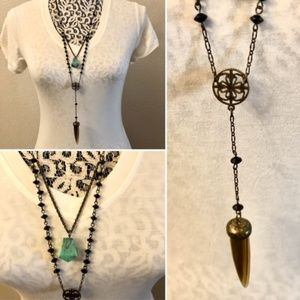Jewelry - 🛍3 for $25🛍 Two-tier Multiple Pendants Necklace